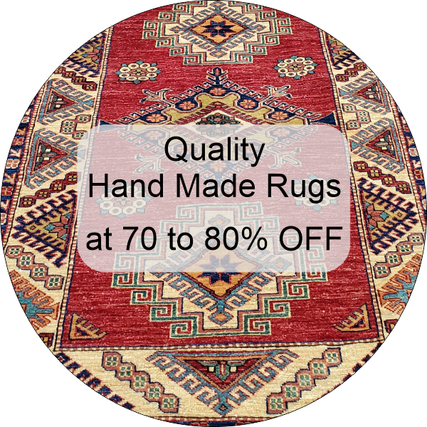 discounted hand made rugs at 70 to 80% off