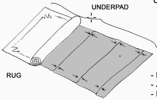 Underpad installation 2