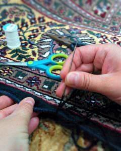Réparation de tapis oriental