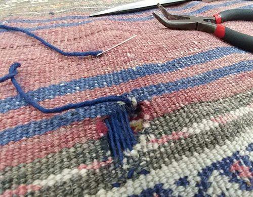 Réparation de tapis perse